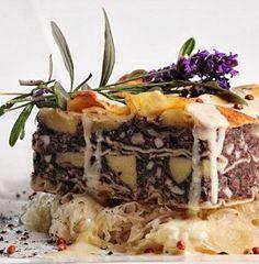 Blood sausage lasagna - When the lovely little italian restaurant round the corner has to adept to German taste.