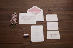 The Beauty of Letterpress: Laura & Ben Wedding by The NU Creative