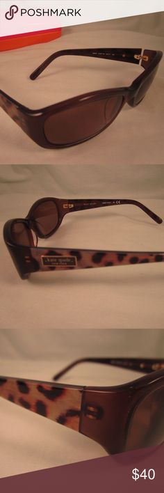 KATE SPADE Rx Sunglasses DEE/S Brown LEOPARD KATE SPADE Prescription Sunglasses Model: DEE/S  Brown and Cream Colored Full Rim Oval Shaped Plastic Frames With Leopard Print on the arms Marked Size: 54/17/120mm  Currently have Prescription Lenses in them which will need to be replaced I'm sorry, I do not know the prescription strength  Please look at pictures carefully for more detail and condition information  Very Nice Gently USED Condition  Includes a Pink & Orange KATE SPADE Clamshell…