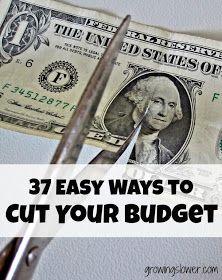 Scissors Cutting Dollar Bill Caption: Easy Ways to Cut Your Budget & Save Money