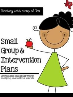 Small Group & Intervention Lesson Plans {A Freebie}