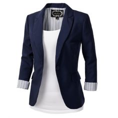 A classic one button blazer that will look good dressed up or dressed down. Pair with boyfriend jeans and classic oxfords for that chic tomboy look. Gift ideas for girlfriends! Spotted for $38