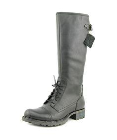 2409fba53e8 SEBAGO Sebago Saranac Lace High Women Round Toe Leather Black Knee High Boot.   sebago  shoes