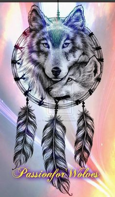 Grey Ink Feathers And Wolf Tattoo Design - Wolf Tattoo Designs Atrapasueños Tattoo, Cubs Tattoo, Tattoo Drawings, Body Art Tattoos, New Tattoos, Circle Tattoos, Triangle Tattoos, Ankle Tattoos, Tiny Tattoo