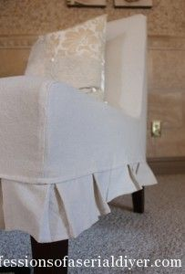 Slipcovering An Armless Accent Chair (Confessions Of A Serial  Do It Yourselfer)
