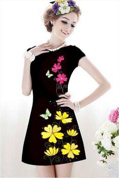 Các cô nàng yêu thích sự mới lạ trong phong cách thời trang thường ngày của mình chắc chắn sẽ không thể bỏ lỡ những thiết kế đầm suông xòe rộng đi dự tiệc dưới đây.