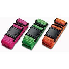 GLORY ART 1 PC Suitcase Belts Fantasy Color Neon,Adjustable Luggage Straps 3-Dial TSA Combination Lock Travel Accessories Bag Straps