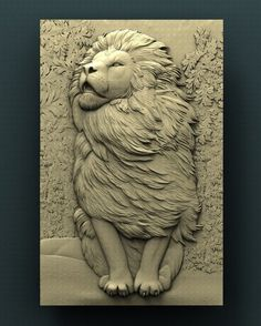 This is a high-quality model, not a ready-to-use product. For CNC. Copyrighted STL model for cnc router, compatible with Aspire and Artcam. Forbidden for resale as a model. 3d Art Drawing, Mural Painting, Cnc Router, Clay Art, Artist At Work, Wood Carving, Lions, Lion Sculpture, Sculpture Ideas