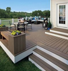 deck ideas on a budget . deck ideas for above ground pools . deck ideas on a budget decorating . deck ideas with hot tub . deck ideas on a budget backyard Backyard Patio Designs, Pergola Patio, Diy Patio, Backyard Landscaping, Backyard Decks, Low Deck Designs, Backyard Deck Ideas On A Budget, Outdoor Patios, Pergola Kits