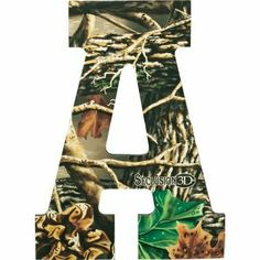 Camo Letter Decal Military Army Green Camouflage