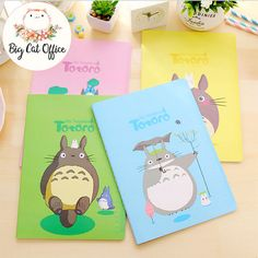 Totoro Stationary Totoro Notebook Kawaii Stationary Gift Ghibli Totoro Gift Cute notebook Stationary for teen Kawaii Gift School Supplies   ❤ Hi. Welcome to BigCatOfficeStore.   We obsessed with Ghibli movies and everything related to Ghibli, specially Totoro.  If you are a lover Ghibli, i sure you definitely fall in love with those notebook.  We guarantee those notebook outside are more beautiful than in the photo.    ------------------------------------ ❤ ORDER DETAILS  Totoro notebook…