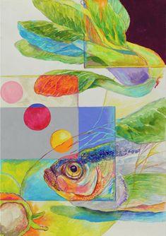 Character Illustration, Illustration Art, Frog Art, Musashi, Coral Blue, Beauty Art, Food Illustrations, Art School, Artsy