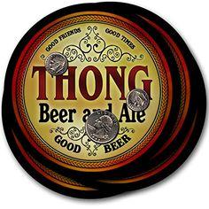 Thong Beer & Ale - 4 pack Drink Coasters ZuWEE…