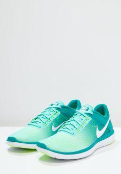 Nike Performance FLEX 2016 RUN - Laufschuh Wettkampf - hyper turquoise/white/rio teal/volt - Zalando.de