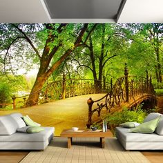 stylish Wallpaper Ideas To Adorn Your Living Room Wallpaper for the wall design and ideas Wallpaper for the wall design and ideas Interior Wallpaper, Room Wallpaper, Photo Wallpaper, Wallpaper Ideas, Floor Murals, 3d Wall Murals, 3d Home, Modern Wall Decor, Cool House Designs