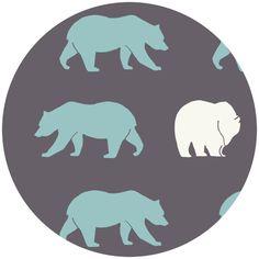 Jay-Cyn Designs for Birch Organic Fabrics, Camp Modern, Bear Hike Shadow