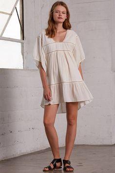Appian Dress in Ivory
