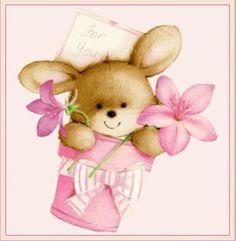 conejitos bunny cute cards  cartas