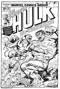 Hulk 181 Redo/ homage Art by John Byrne - Incredible Hulk vs Wolverine Comic Book Artists, Comic Artist, Comic Books Art, Marvel Comics Superheroes, Hulk Marvel, Dc Comics, Spiderman, First Hulk, Hulk 181