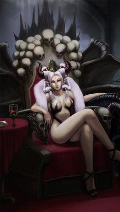 Empress Erin's throne by Aaron Florento