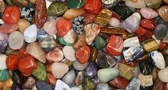 Our tumbled stone mixtures contain an assortment of different types of brightly-polished semi-precious stones from many parts of the world. Minerals And Gemstones, Rocks And Minerals, Rock Background, Pictures Of Rocks, Mineral Stone, Crystal Sphere, Tumbled Stones, Rocks And Gems, Stones And Crystals