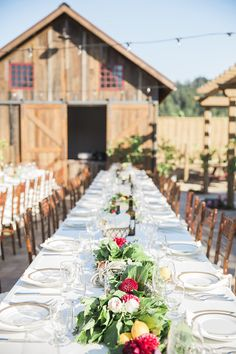 Queens Table Runner with the Rustic Orchard Patio Barn