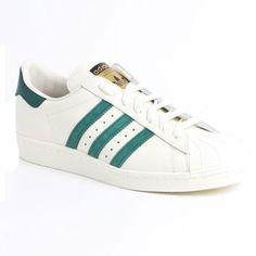 new concept 9d6ba 839f3 Adidas Originals Superstar 80s Vintage Deluxe Homme Femme Chaussures Blanche  Collegiate Verte B35981-GM0735