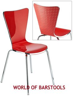 GRAZIA  ACRYLIC DINING CHAIR IN RED, WHITE & GREEN Kitchen Table Chairs, Table And Chairs, Acrylic Dining Chairs, Red And White, Ebay, Furniture, Home Decor, Decoration Home, Room Decor