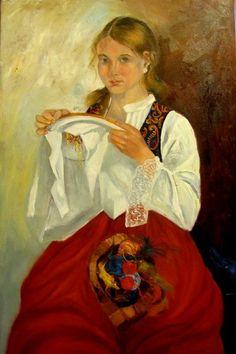 Painting Hafciarka - Artist Krystyna Ruminkiewicz