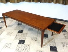 Teak Coffee Table with pull-out tray, 1960s