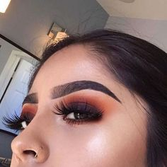 "Not into the ""marker-brow"" trend but I'm totally loving the hints of vibrant colors"