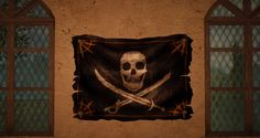 Pirate flag for our house Pirates, Flag, Skull, House, Art, Tights, Art Background, Home, Kunst