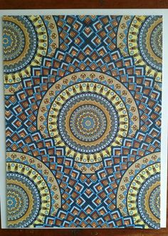 Coloured By Patti Duffy Salmon‎. Book Color Mandala Wonders. Used Bic Markits, gel pens.