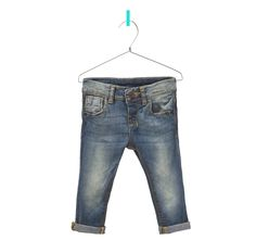 jeans with striped coin pocket