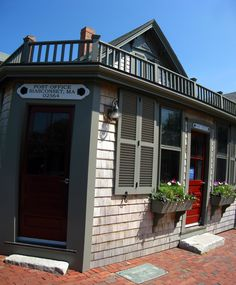 Siasconset, MA  Post Office    Still located in the building it was first housed in, the town of 'Sconset as it is affectionately called is on the coast of Nantucket.
