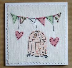Birdcage card, via Flickr.