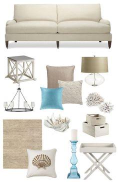 aqua living room   Neutral living room & aqua