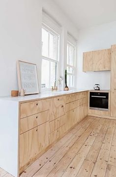 Modest apartment decorated with plywood home design   photo