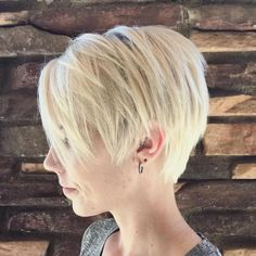 Long Layered Blonde Pixie