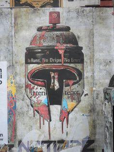 spray paint can helmet.