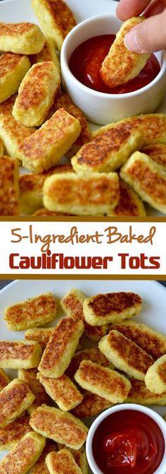5-Ingredient Baked Cauliflower Tots