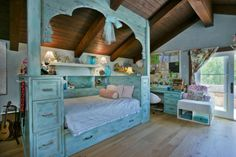 Fantastic Country Home Design: Fancy Little Girl Bedroom With Learning Desk Country Home ~ ozvip.com Country Home Designs Inspiration