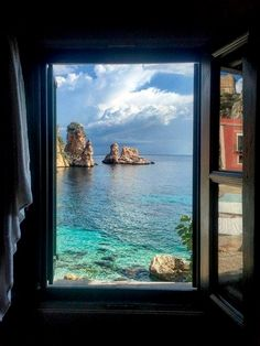 Tonnara di Scopello - Sicily Room With a View: The Best Hotel Views Around the World - Condé Nast Traveler Places To Travel, Places To Visit, Travel Destinations, Voyager Seul, Beau Site, Window View, Jolie Photo, Travel Aesthetic, Solo Travel