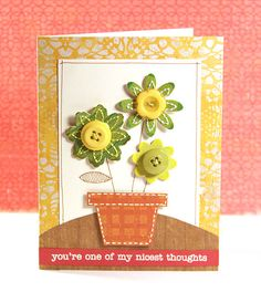 Such a lovely sentiment and I like the green flowers.