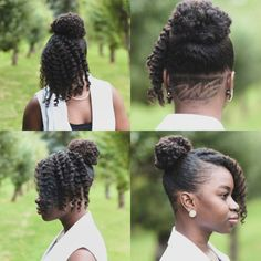 Natural Updo With Nape Undercut