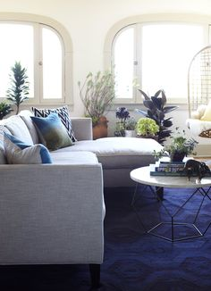 Ideas For Working With Horrible Blue Carpet Home Decor That I Love