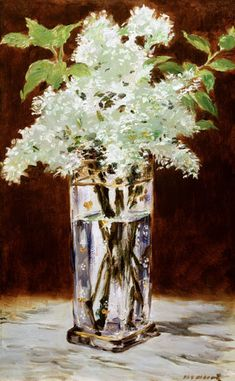Bild:  Edouard Manet - White Lilac in a Crystal Vase