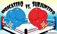 Indicativo vs Subjuntivo: 100 frases donde elegir - Actividad online: http://bit.ly/1nZpkE2 y ficha para imprimir (nivel B2/C1) | Más materiales en www.ProfeDeELE.es