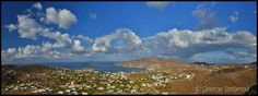 Poseidonia - a coastal village and one of the most popular summer resorts of Syros, characterized by stately mansions that are built on both sides of the main road crossing the village. Syros Greece, Greek Islands, Greece Travel, Resorts, Photo S, Travelling, Coastal, Clouds, Popular