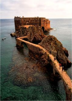 The Fort, Berlengas, Portugal Copyright: Grzegorz Oczkowicz Places Around The World, Oh The Places You'll Go, Places To Travel, Places To Visit, Around The Worlds, Travel Destinations, Spain And Portugal, Portugal Travel, Spain